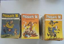 600 x  Mosaik hefte Comic Sammlung Zustand 2-3