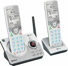 AT&T - 2 Handset Connect to Cell Answering System with Unsurpassed Range - White
