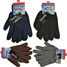 MENS THINSULATE GLOVES THERMAL INSULATION KNITTED LINED WARM WINTER LADIES COLD