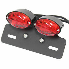 RYDE LED BLACK DOUBLE MOTORCYCLE/BIKE TAIL/BRAKE/INDICATOR/NUMBER PLATE LIGHT