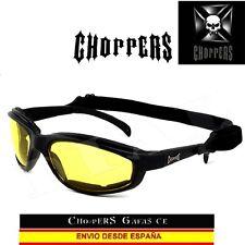 CHOPPERS Gafas de Noche CE con Goma Motorista Biker Night Lunettes Occhiali
