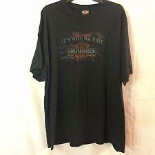Harley Davidson American Flag Why we Ride T shirt Black 2XL Barnett Harley XXL