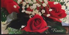 CHECKBOOK COVER RED ROSES