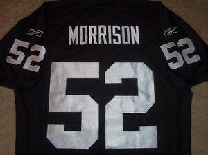 VTG AUTHENTIC KIRK MORRISON OAKLAND RAIDERS NFL REEBOK RBK JERSEY 48 SEWN RARE!
