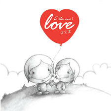 """""""To The One I Love"""" Cupids Valentines/Birthday Card him/her romantic red balloon"""