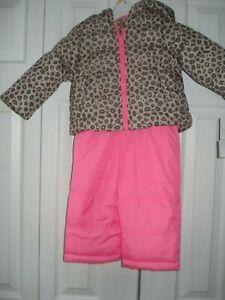 Girls 2 Piece Snowsuit Animal Print Sizes 12 Mths & 18 Mths Carter's