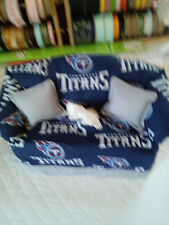 NFL TENNESSEE TITANS TISSUE BOX COVER HANDMADE GREY PILLOWS