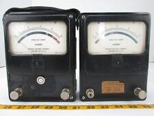 Vintage Lot Of Alternating Ammeters Amperes Model 10 Simpson Elecrtic Company T