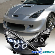 2000-2005 Toyota Celica Dual Halo Led Projector Headlights Black SpecD Tuning