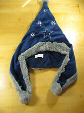 """Dallas Cowboys Snowflake Blue Gray Fleece Pom Beanie Hat Forever Collectible 22"""""""