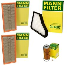Mann Oil Paper Cabin Two Air Filter Service Kit for Benz W140 400SE 500SEC S500