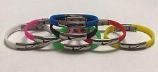 Nike Sport Thin Baller Band Silicone Rubber Bracelet Wristband Cuff Bangle Metal