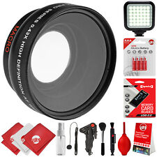 Opteka 0.43x Wide Angle Lens PKG For Canon 7D 80D 77D T7i SL2 T7 T6i T6 T5i T5