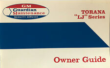 Holden LJ TORANA Owners Guide Service Manual Booklet Blank GMH GTR Xu1 202 RARE