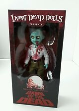 George a Romero's Dawn of the Dead Living Dead Dolls mezco 10 inch new in box