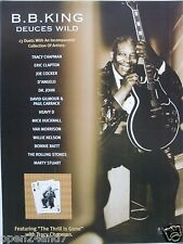 """B.B.King """"Deuces Wild"""" U.S. Promo Poster - The King Holding Luceille"""