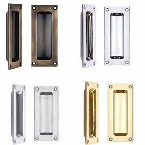 Rectangular Recessed Flush Inset Sliding Door Handle