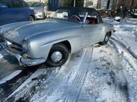 Mercedes 190SL, Silver on Red, sitting for few years, great potential, UK reg.