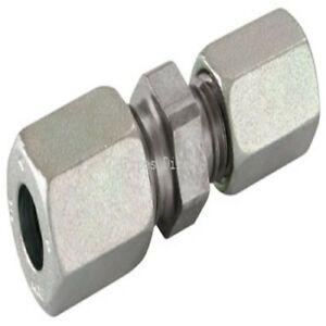 Hydraulic Tube x Tube Reducing Straight Tube Coupling Heavy Series Compression