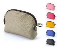 Women Genuine Real Leather Zip Coin Wallet Credit Card Bag Fashion Change Purse