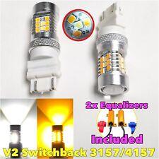 V2 Front Signal 3157 3057 4157 Switchback 6K Amber LED Light Bulb B1 For Dodge A