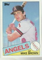 FREE SHIPPING-MINT-1985 Topps #258 Mike Brown Angels PLUS BONUS CARDS
