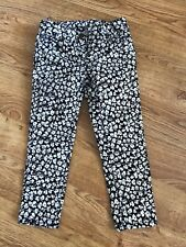Crewcuts Girl's Black White Floral Pants 4 years
