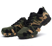 Chic Men's Steel Toe Lace Up Camouflage Camo Safety Work Hiking Climbing Shoes