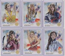 RAREST 2014 TOPPS OLYMPIC RAINBOW PARALLEL 1-100 CARD SET HILARY KNIGHT ~ VONN