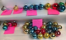 36 Assorted Small Glass Christmas Tree Ornaments Shiny Brite, W Germany, USA