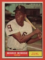 1961 Topps #380 Minnie Minoso EX+ WRINKLE Chicago White Sox FREE SHIPPING