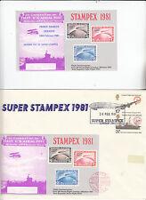 England 3 Belege Super Stampex 1981
