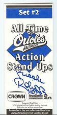 Brooks Robinson Autograph Crown All Time Action Stand Ups Set 2 Weaver Ripken