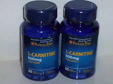 2 BOTTLES L-CARNITINE 500MG FAT WEIGHT LOSS METABOLISM SUPPLEMENT 120 CAPSULES