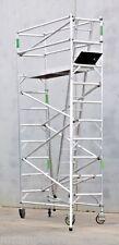 New Aluminium Scaffolding 450kg Work saf REG. 5.7m Access Height Mobile Scaffold