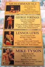 Boxing Ali,tyson,lewis,foreman pic plaques Choose 1