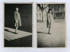 PHOTO ANCIENNE Vintage Femme enceinte vers 1930 Manteau Portrait en pied Rare