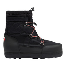 HUNTER  Womens original quilted snow boots Black size 9 US, 40 EU  price $265