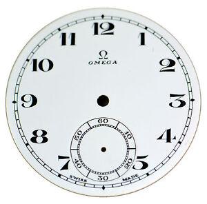 Orig. NOS Vintage Omega Porcelain Pocket Watch Dial with Sunken Seconds Track #5