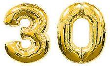 Grande numero 30 ORO PALLONCINI trentesimo compleanno anniversario Partito Stagnola Decorazione