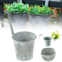 Wall Hanging Flower Pot Basket Box Metal Iron Fence Balcony Garden Home Decors