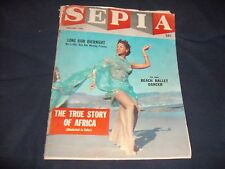 SEPIA Magazine February 1959  Pat Sides Beach Ballet Dancer Archie Moore & More