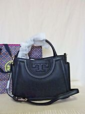 fe79825f122 NEW Tory Burch Black Leather Serif T Satchel Retail $495