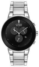 Citizen Eco Drive Axiom Men's Chronograph Black Dial 43mm Watch AT2240-51E