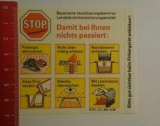 Aufkleber/Sticker: Bayerische Versicherungskammer Stop Brandgefahr (060816182)