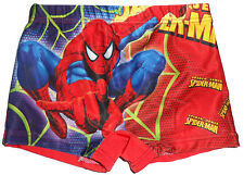 Size 2 - Boys Spiderman Red Swimming Trunks Board Shorts Bathers