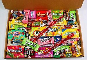 50 items American sweets gift box - USA candy hamper - Nerds - laffy taffy