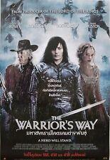 "WARRIOR'S WAY ""A HERO WILL STAND"" ASIAN MOVIE POSTER-Jang Dong-gun,Geoffrey Rush"