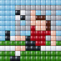 PIXELHOBBY XL MOSAIC KIT LARGER PIXELS FOR YOUNGER KIDS  'FOOTBALL' GREAT HOBBY