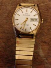 Vintage Caravelle Bulova Set-O-Matic Electronic Watch Day Date Working